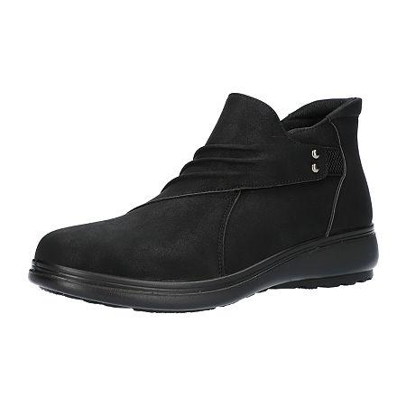 Easy Street Womens Jo Booties Flat Heel, 7 1/2 Wide, Black