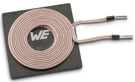 Wurth Elektronik Radial Wireless Charging Receiver Coil, Ferrite Core, 19mm dia., 1.1A, 520mΩ, 25 Q Factor