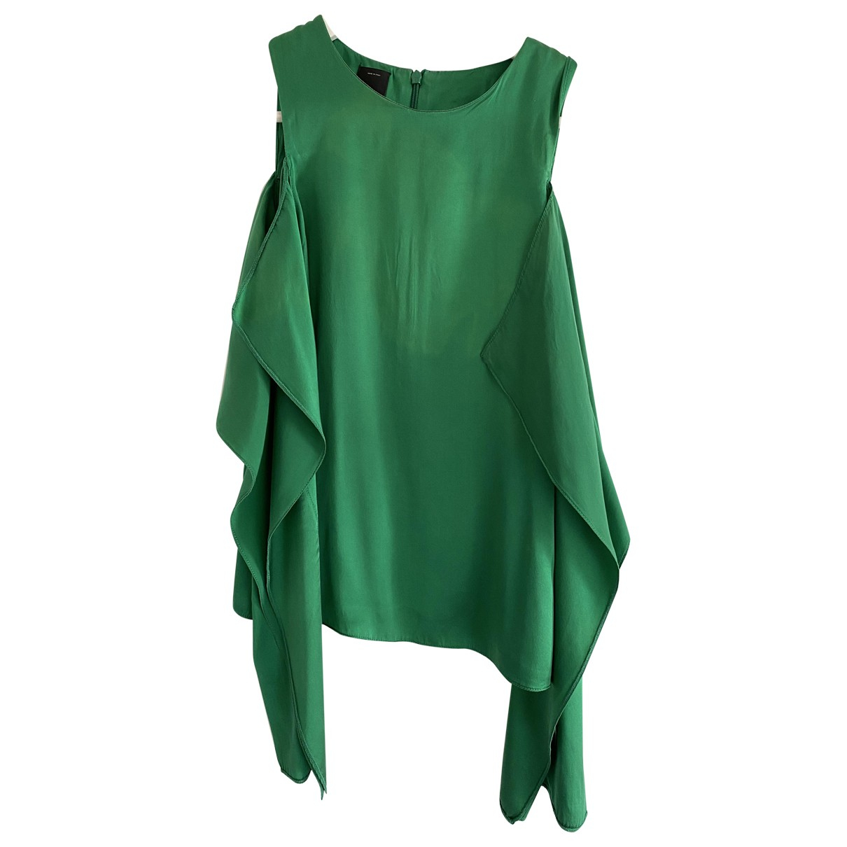 Pinko \N Green Silk  top for Women 38 IT