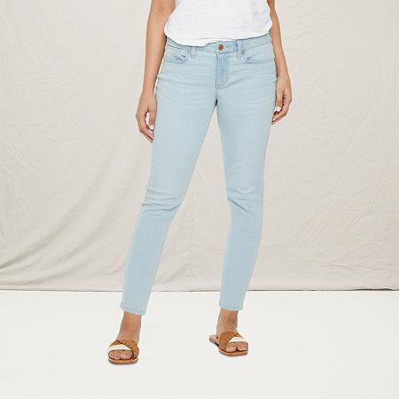 a.n.a Womens High Rise Skinny Ankle Jean, 2 , Blue