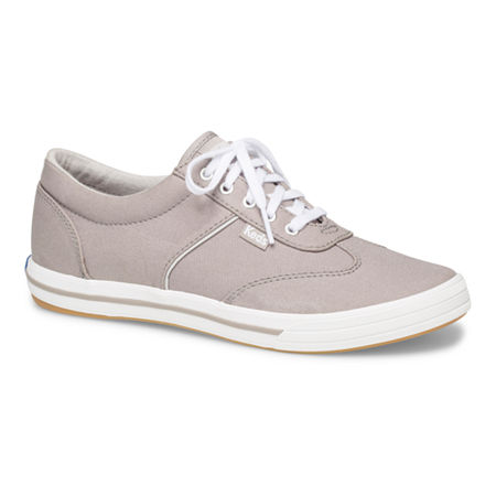 Keds Womens Courty Core Lace-Up Sneakers, 8 1/2 Medium, Gray