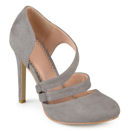 Journee Collection Womens Zeera Pumps Stiletto Heel, 9 Medium, Gray