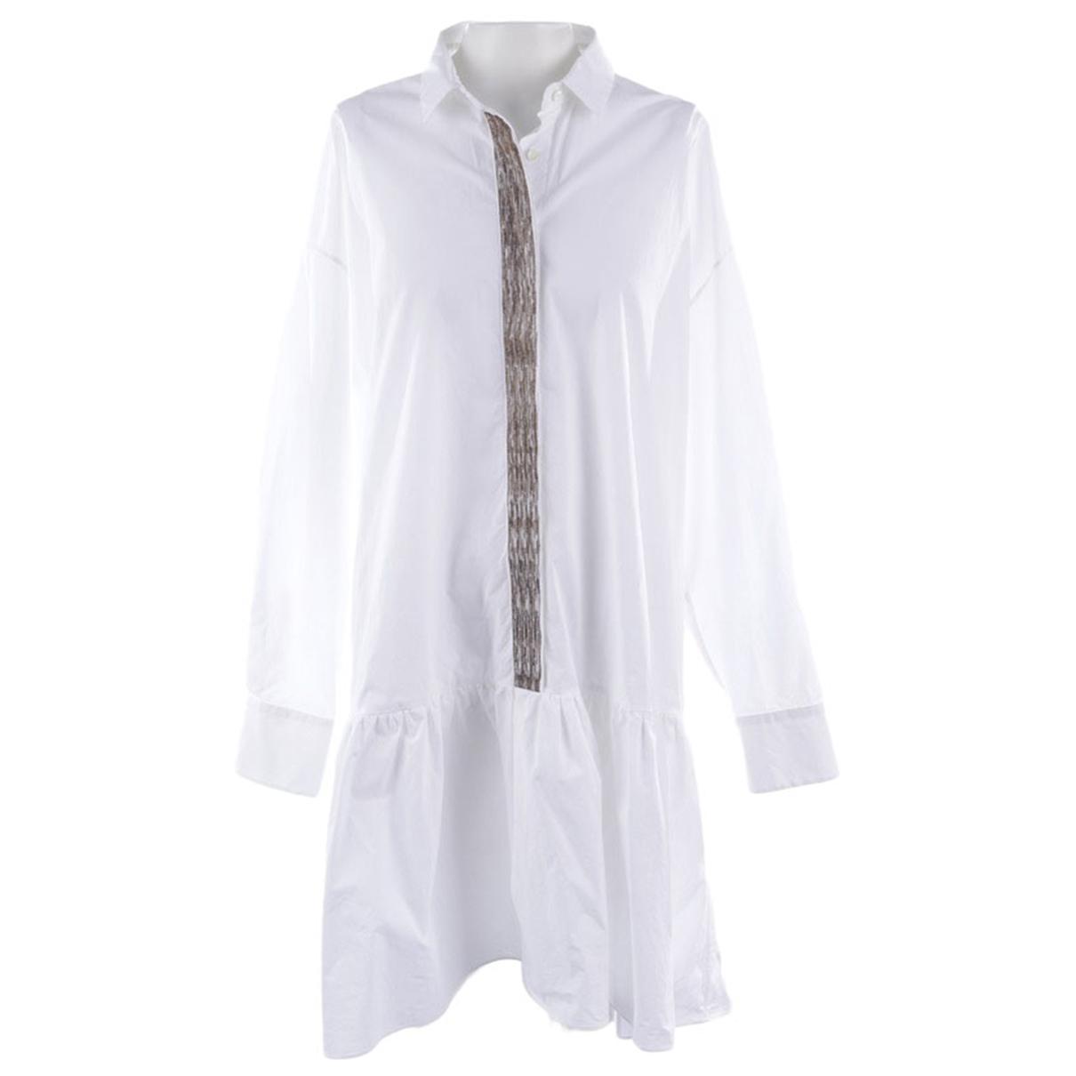 Brunello Cucinelli \N White Cotton dress for Women 38 FR