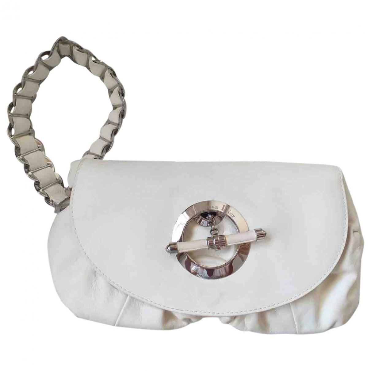 Dior \N White Leather Clutch bag for Women \N