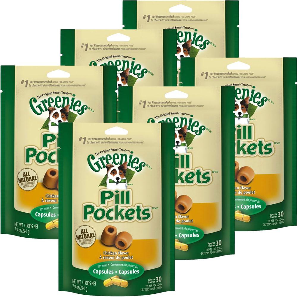 Greenies Pill Pockets Chicken Formula 6-Pack 47.4 oz (180 count)