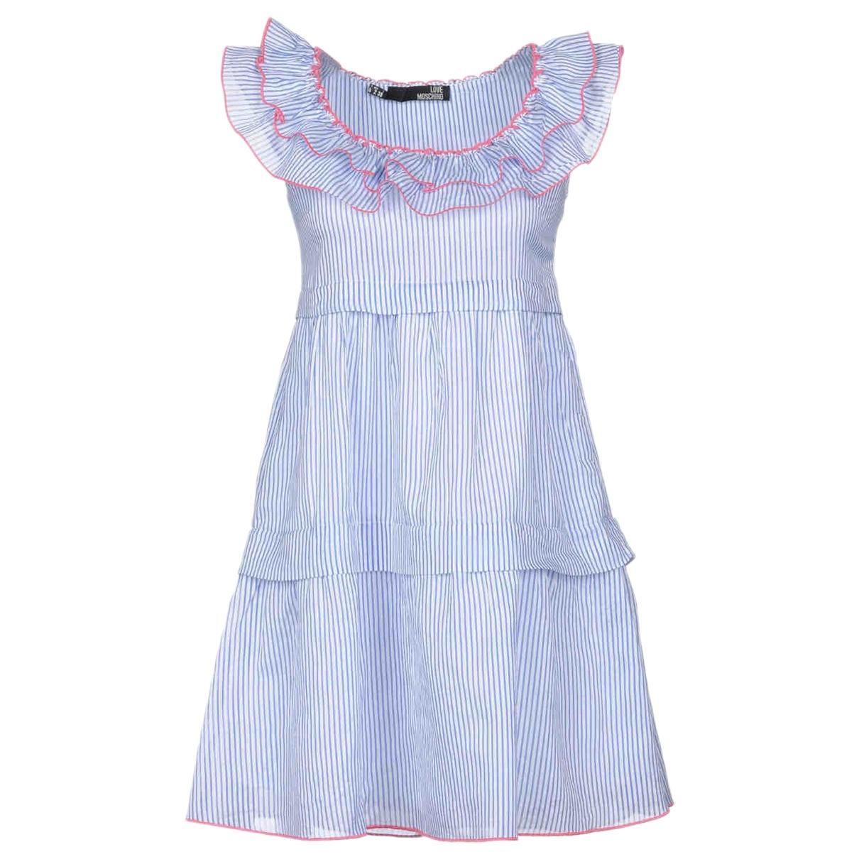 Moschino Love \N Blue Cotton dress for Women 38 IT