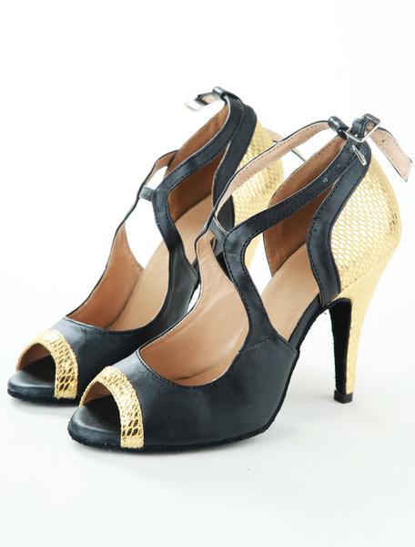 Milanoo Classic Fish Print PU Leather Latin Shoes