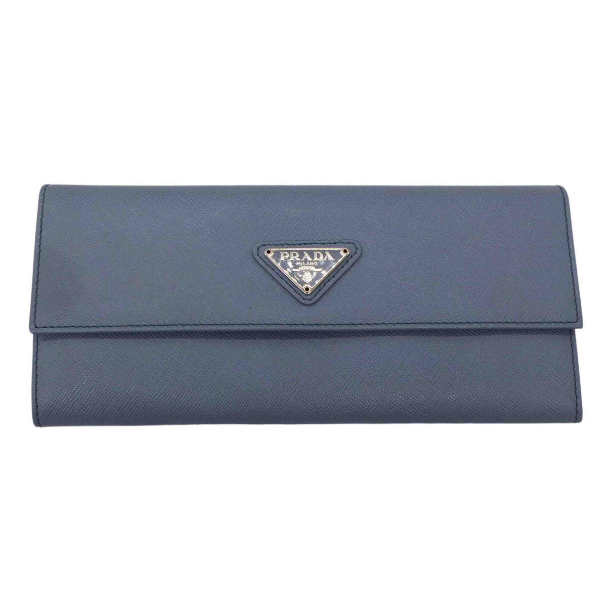 Prada \N Blue Leather wallet for Women \N