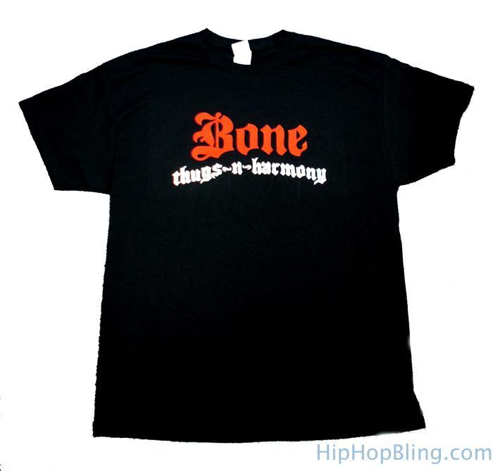 Bone Thugs n Harmony Red & White Logo Black T Shirt