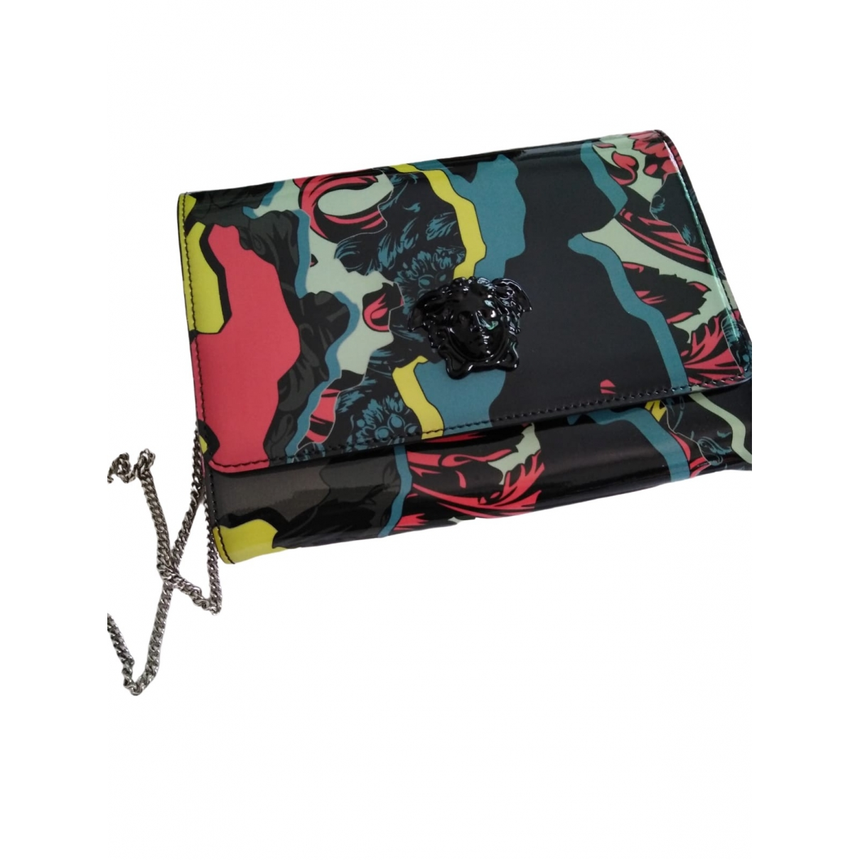 Versace \N Multicolour Patent leather Clutch bag for Women \N