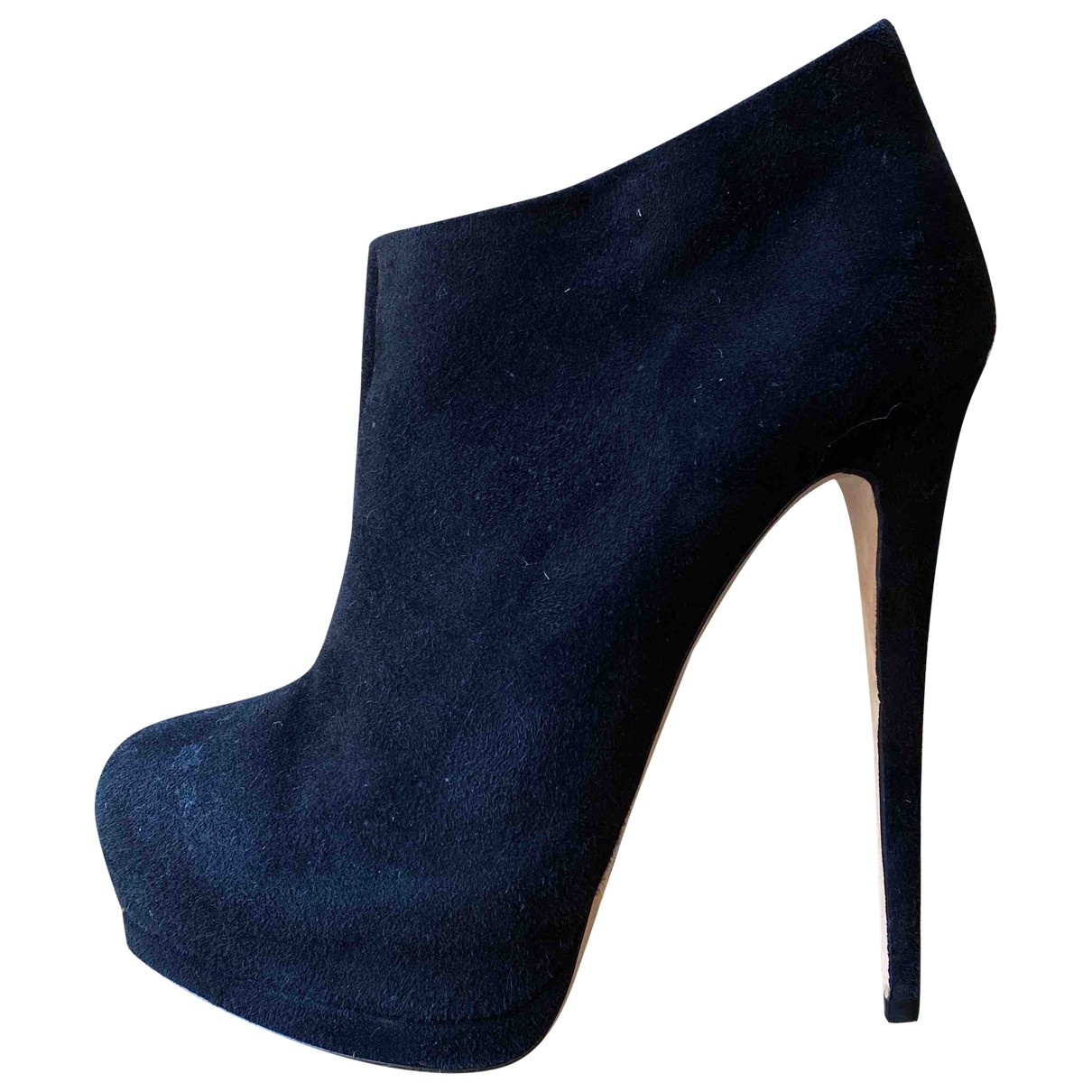 Giuseppe Zanotti \N Black Suede Ankle boots for Women 39 IT