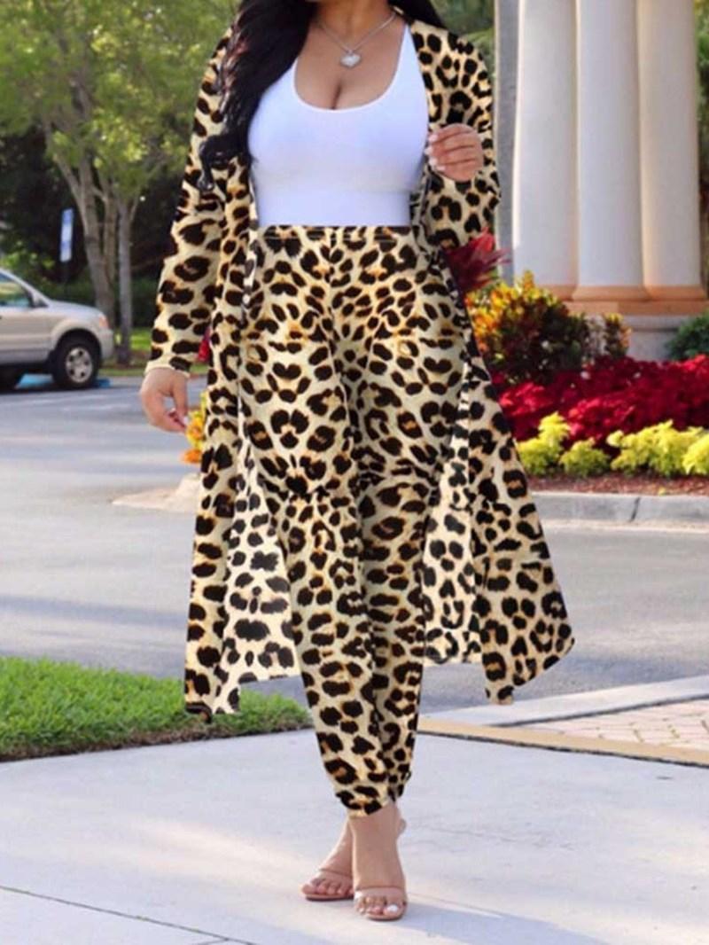 Ericdress Print Shirt Leopard Two Piece Sets