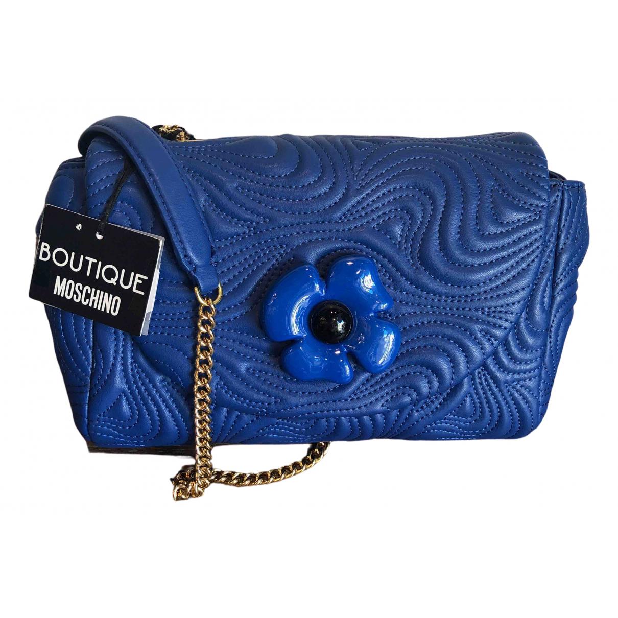 Moschino \N Blue Leather handbag for Women \N