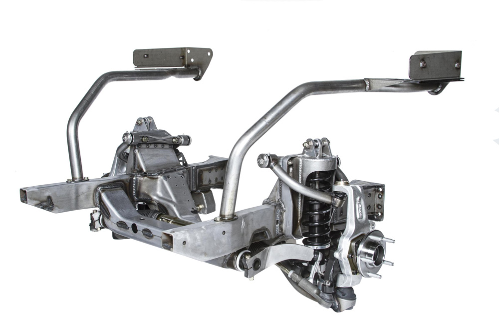 Detroit Speed 032039-S Chevy II Front Frame 1962-65 Bare w/Powder Coated Components Single Adj Shocks