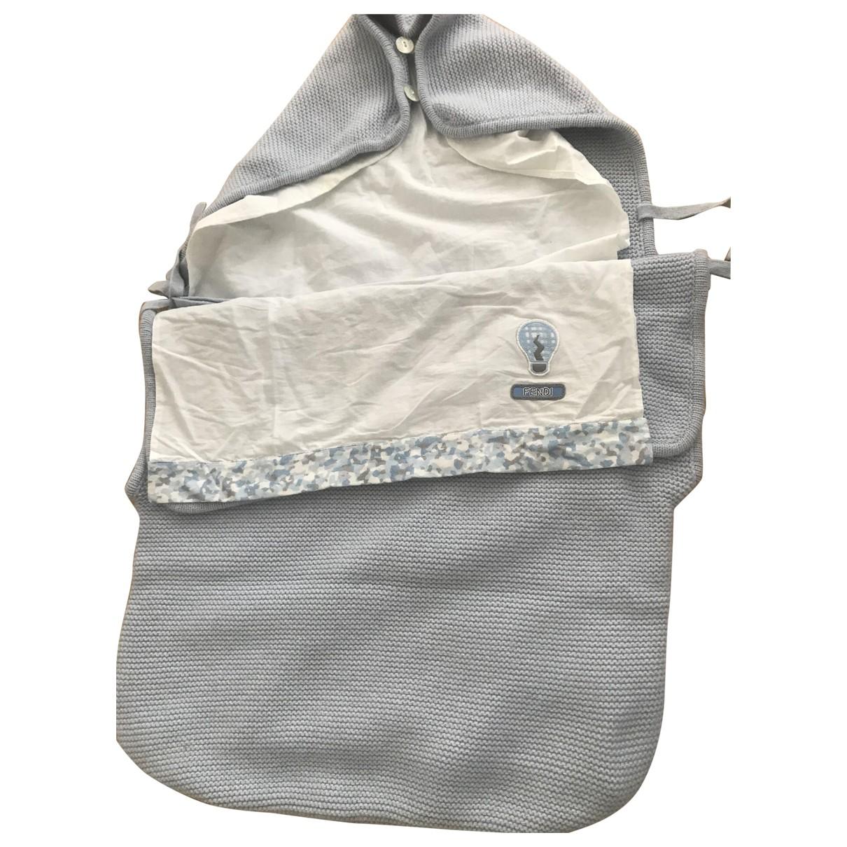Fendi \N Blue Wool bag & Pencil cases for Kids \N