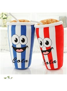 Blue/Red Cute Popcorn And Coke Soft and Breathable Plush Baby Toy