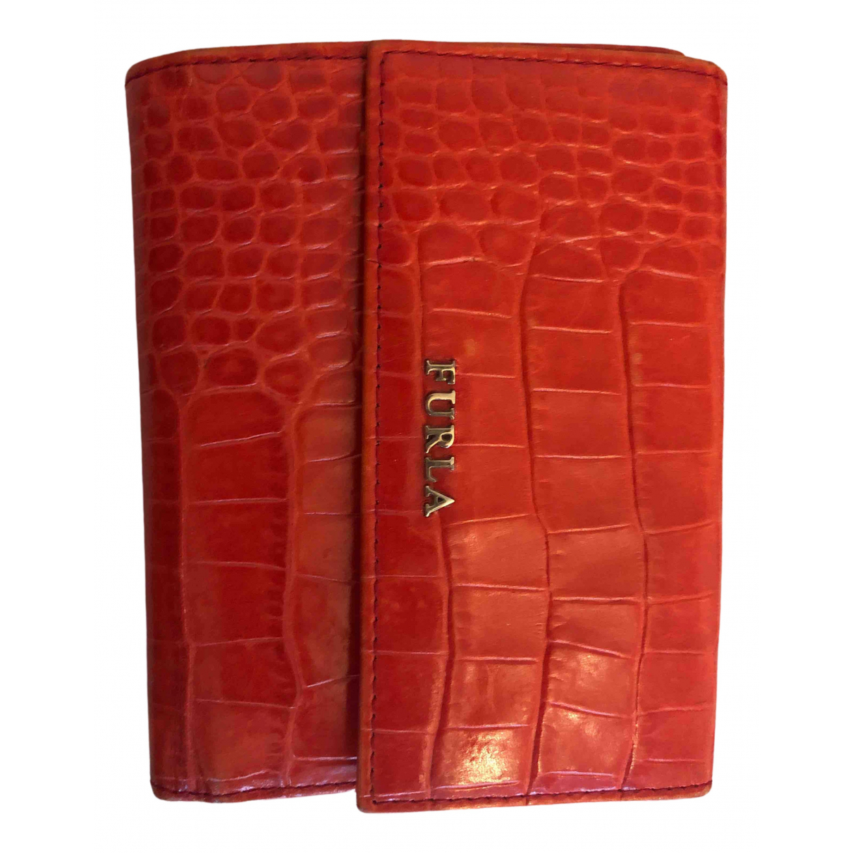 Furla \N Red Leather wallet for Women \N