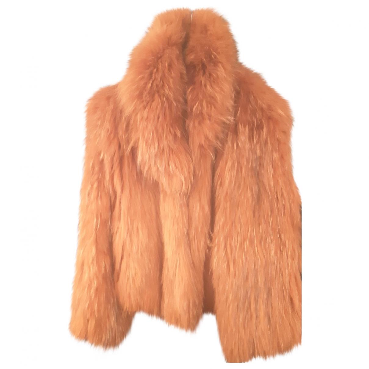 Yves Salomon \N Camel Fox coat for Women 38 FR