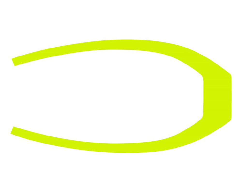 Polaris 305MM Rear Fender Decal - Lime Squeeze