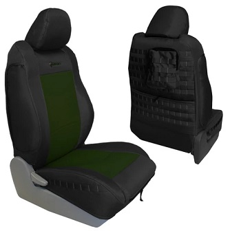Bartact TTAC2016FPBO Tactical Series Front Seat Cover Black/Olive Drab for Toyota Tacoma 2016-2019