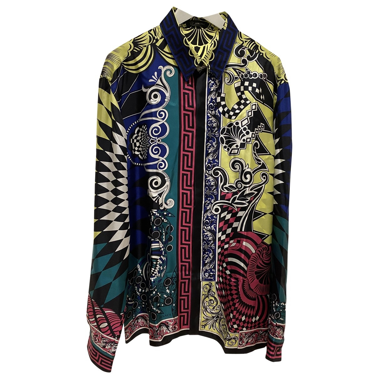 Versace \N Multicolour Silk Shirts for Men 43 EU (tour de cou / collar)