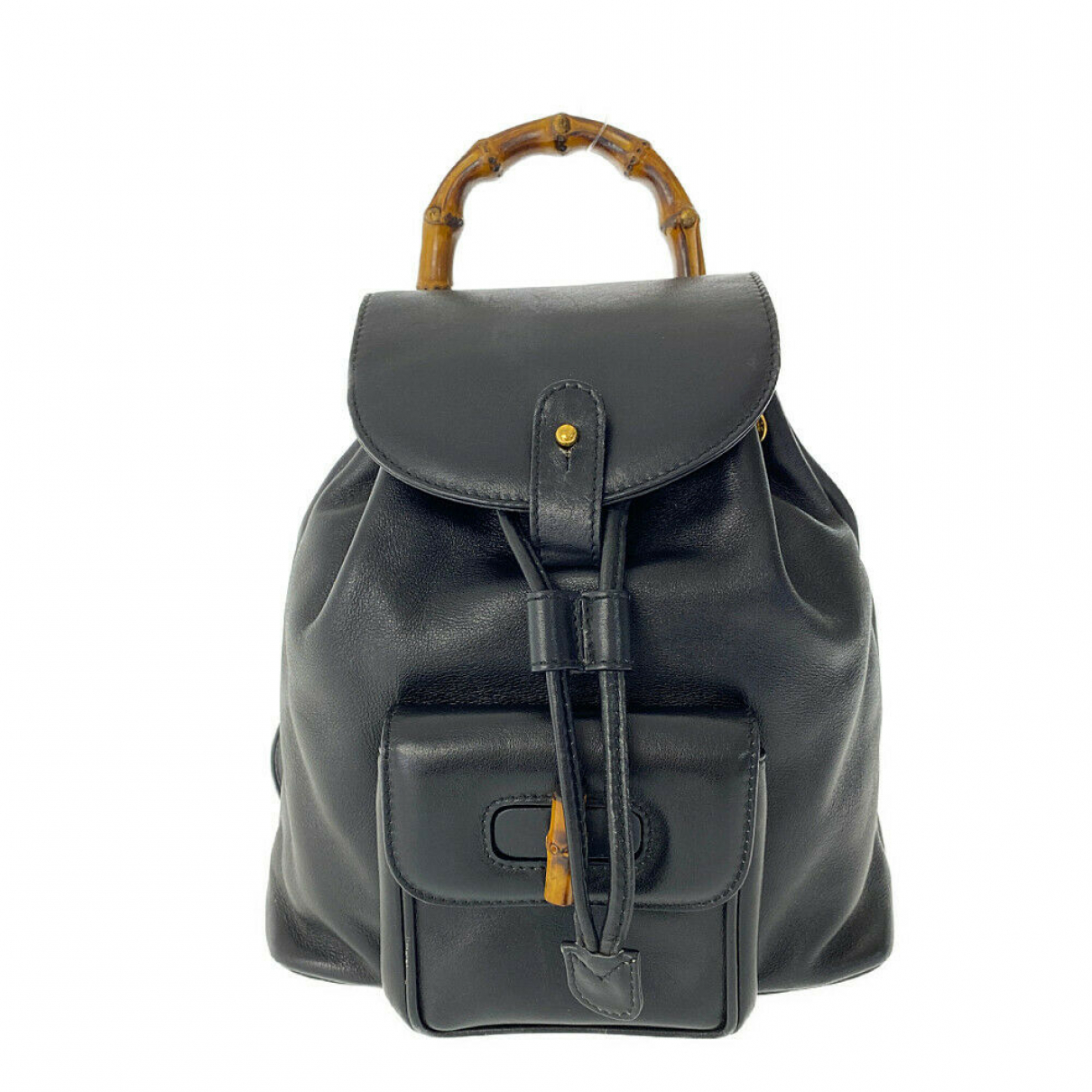 Gucci \N Black Leather backpack for Women \N