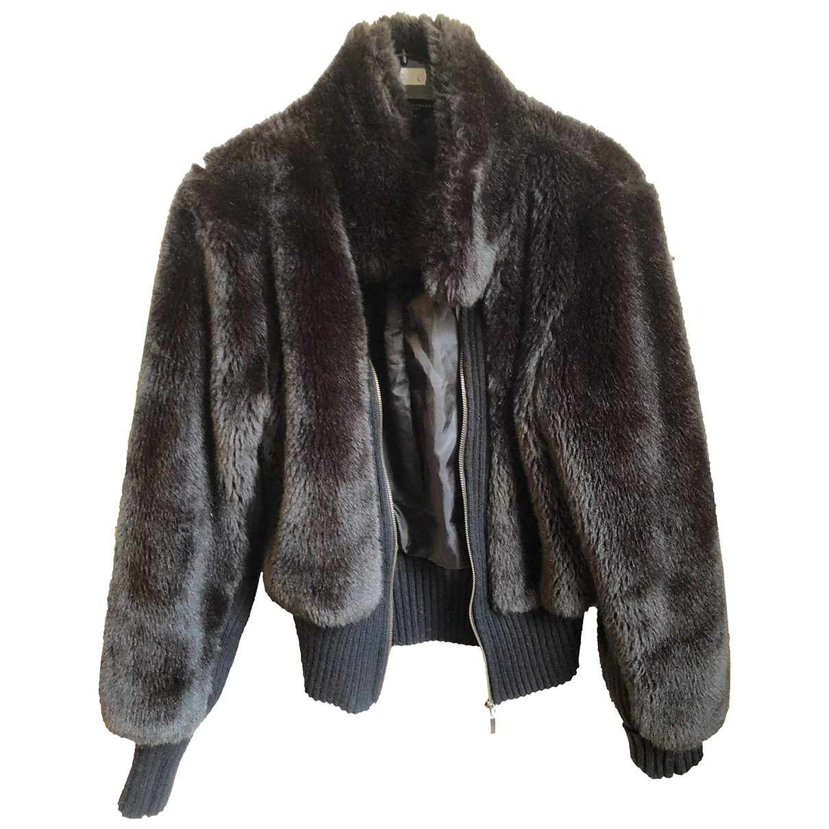 Non Signé / Unsigned \N Brown Faux fur jacket for Women 40 FR