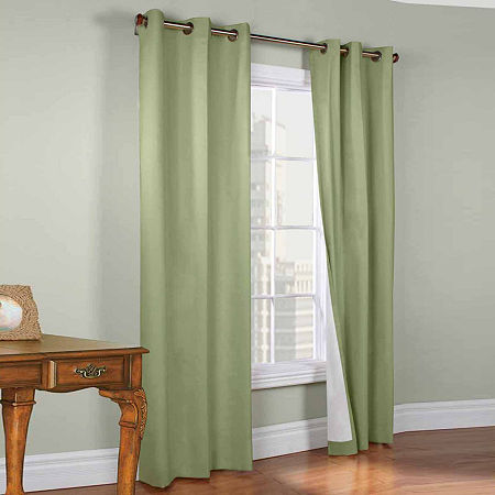 Weathermate Energy Saving Blackout Grommet-Top Set of 2 Curtain Panel, One Size , Green