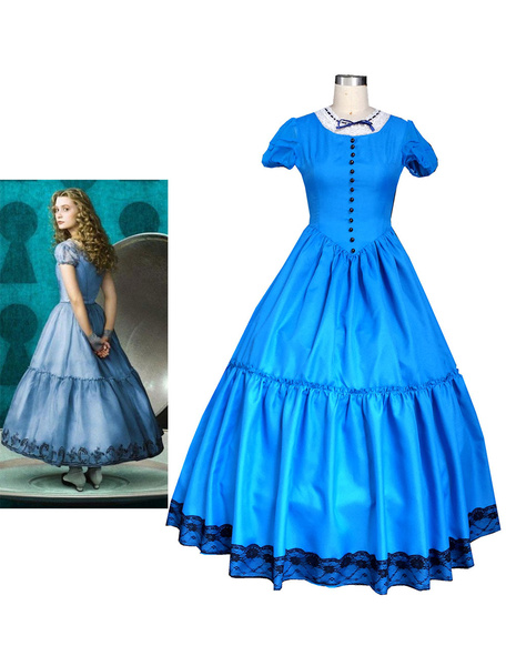 Milanoo Alice In Wonderland Alice Dress Halloween Cosplay Costume Halloween