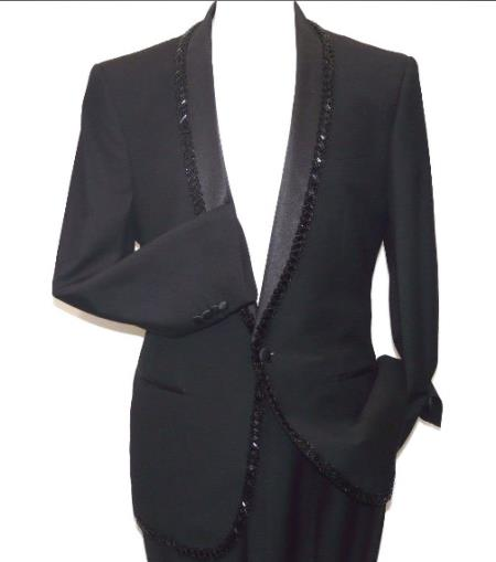 Mens Manzini Insomnia blazer Stage Formal Wedding Jacket Black