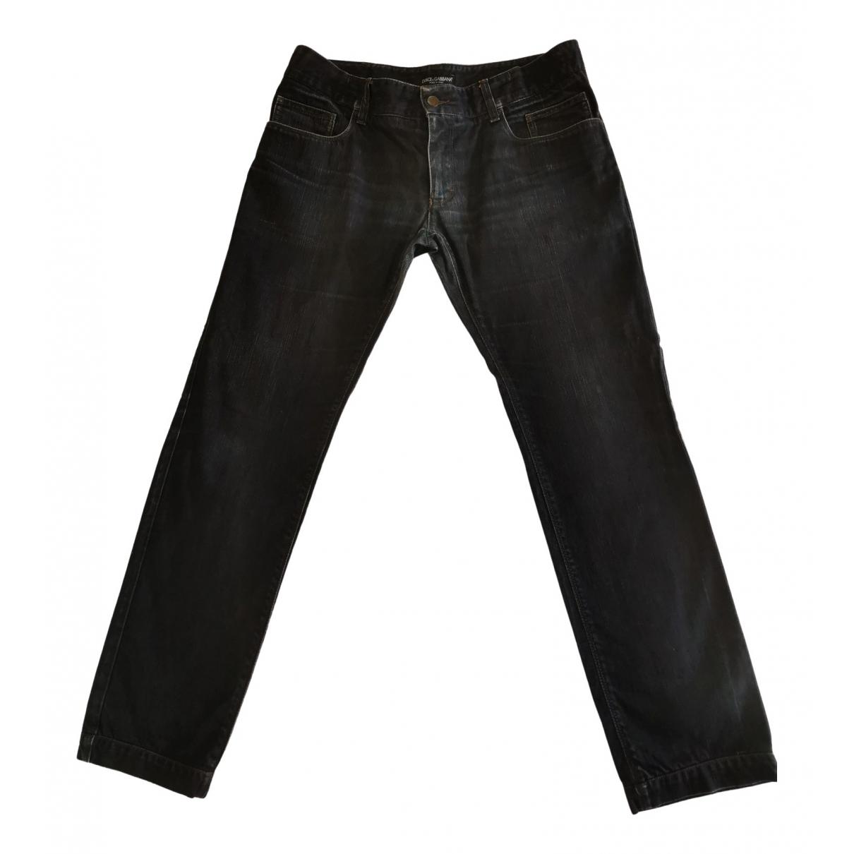 Dolce & Gabbana \N Navy Cotton Jeans for Men 44 FR