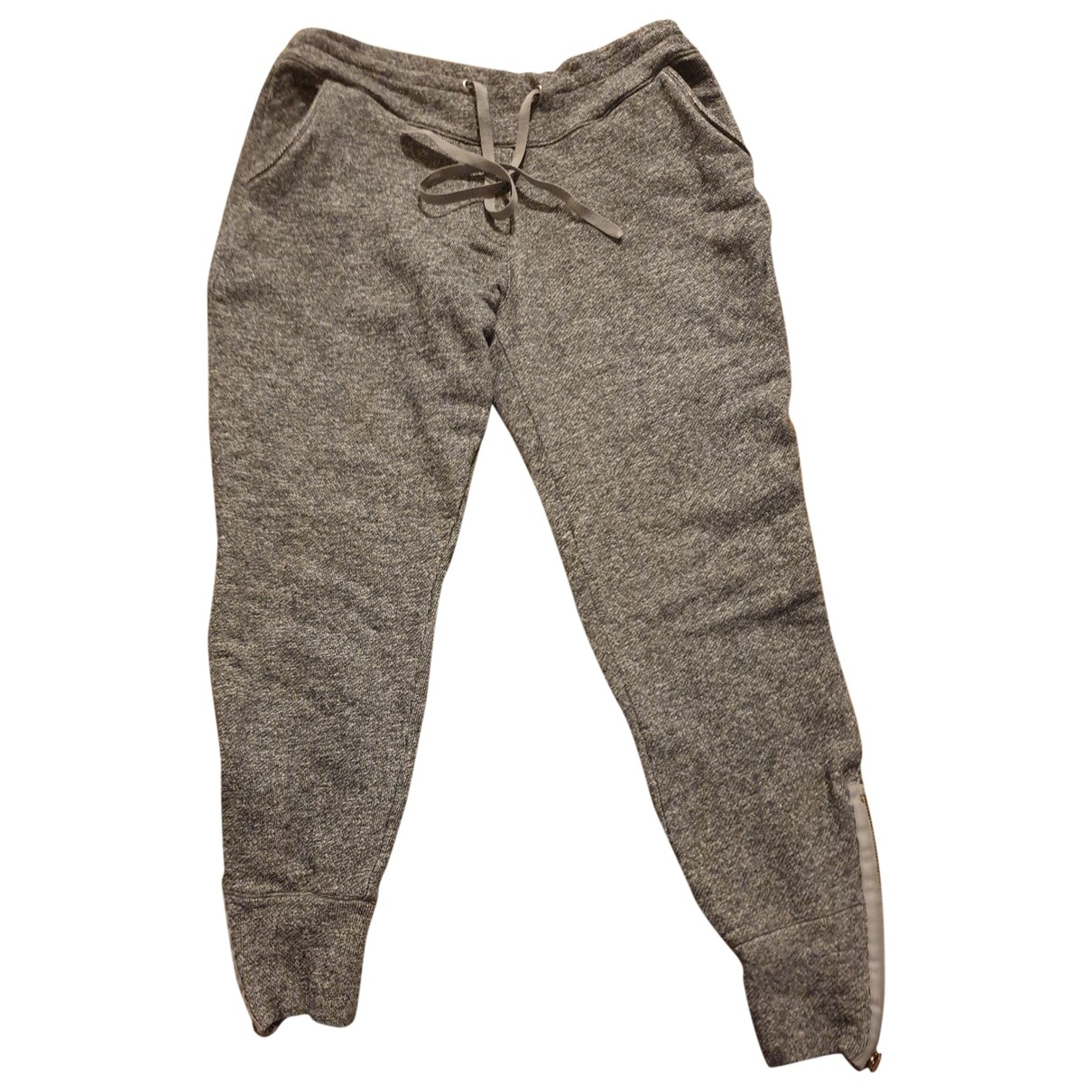 Sandro \N Grey Cotton Trousers for Women 1