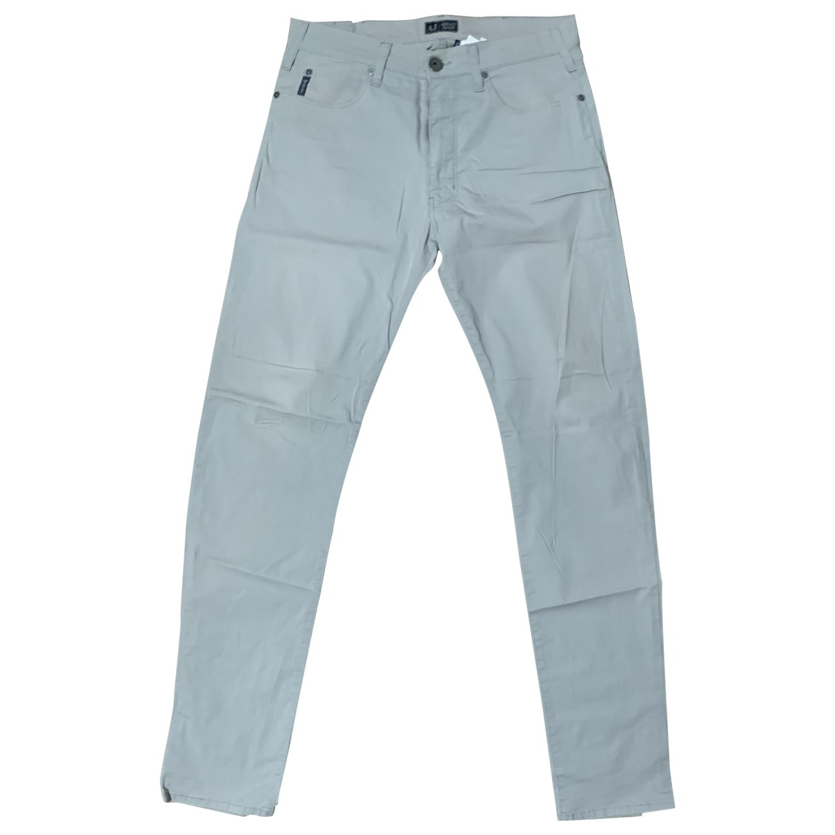 Armani Jeans \N Grey Cotton Trousers for Men 32 UK - US