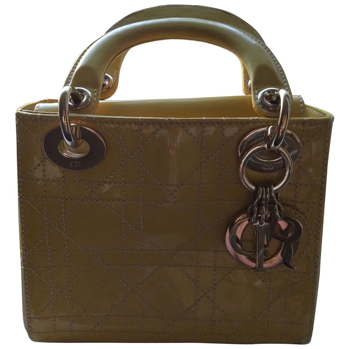 Dior My Lady Dior Yellow Leather handbag for Women \N