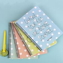 1pack Slogan Graphic Cover Random Notebook