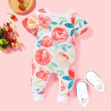 Baby Girl Floral Print Jumpsuit