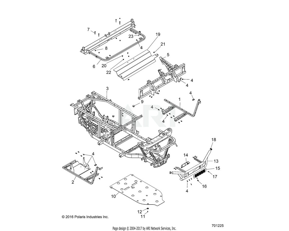 Polaris OEM 1021330-458 WELD-SEAT BASE, CAB SUP, EU, MBLK