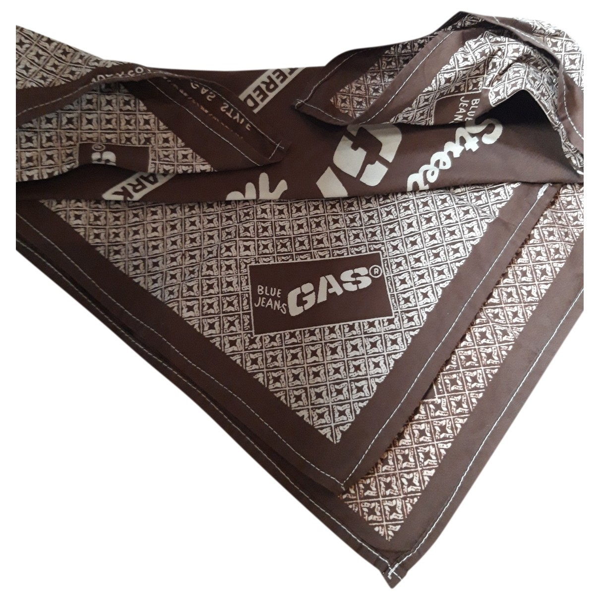 Gas \N Brown Cotton scarf & pocket squares for Men \N