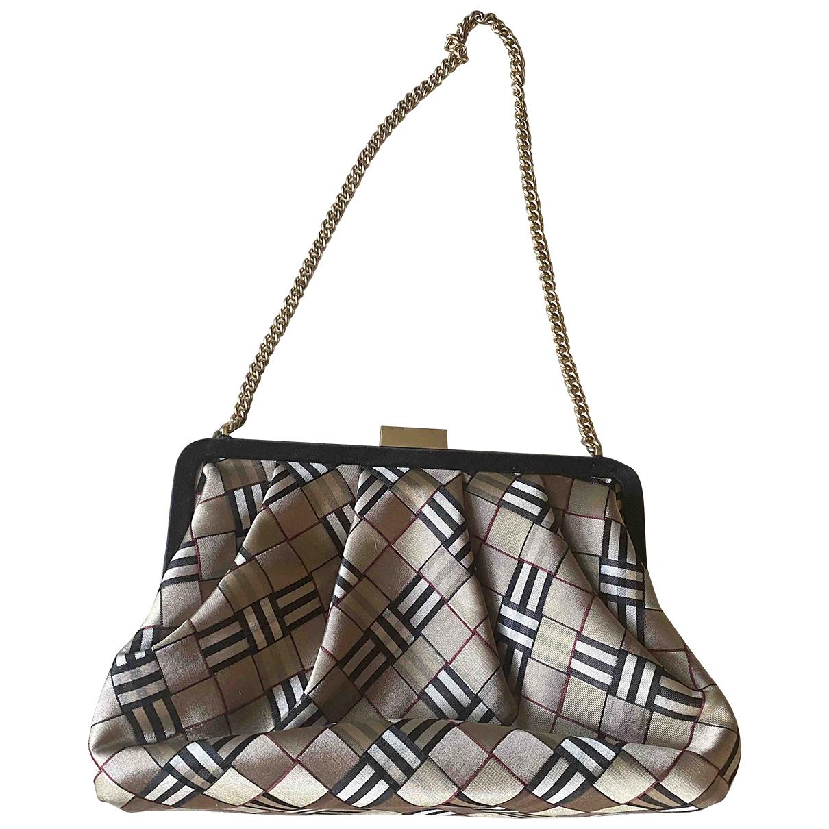 Burberry \N Beige Silk handbag for Women \N