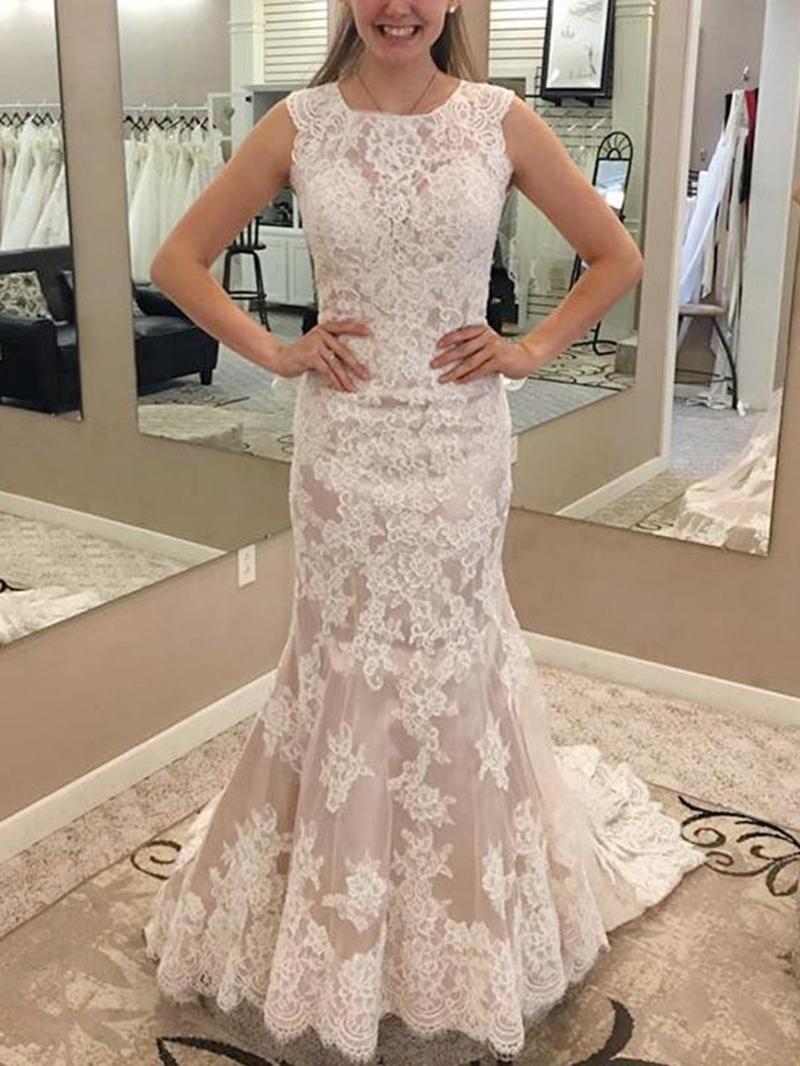 Ericdress Mermaid Appliques Church Wedding Dress