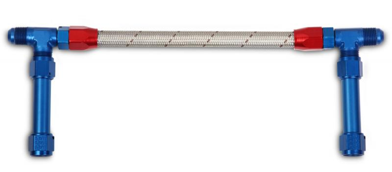 Earl's Performance 105286ERL -8AN DUAL FEED W/STAINLESS HOSE -DOMINATOR