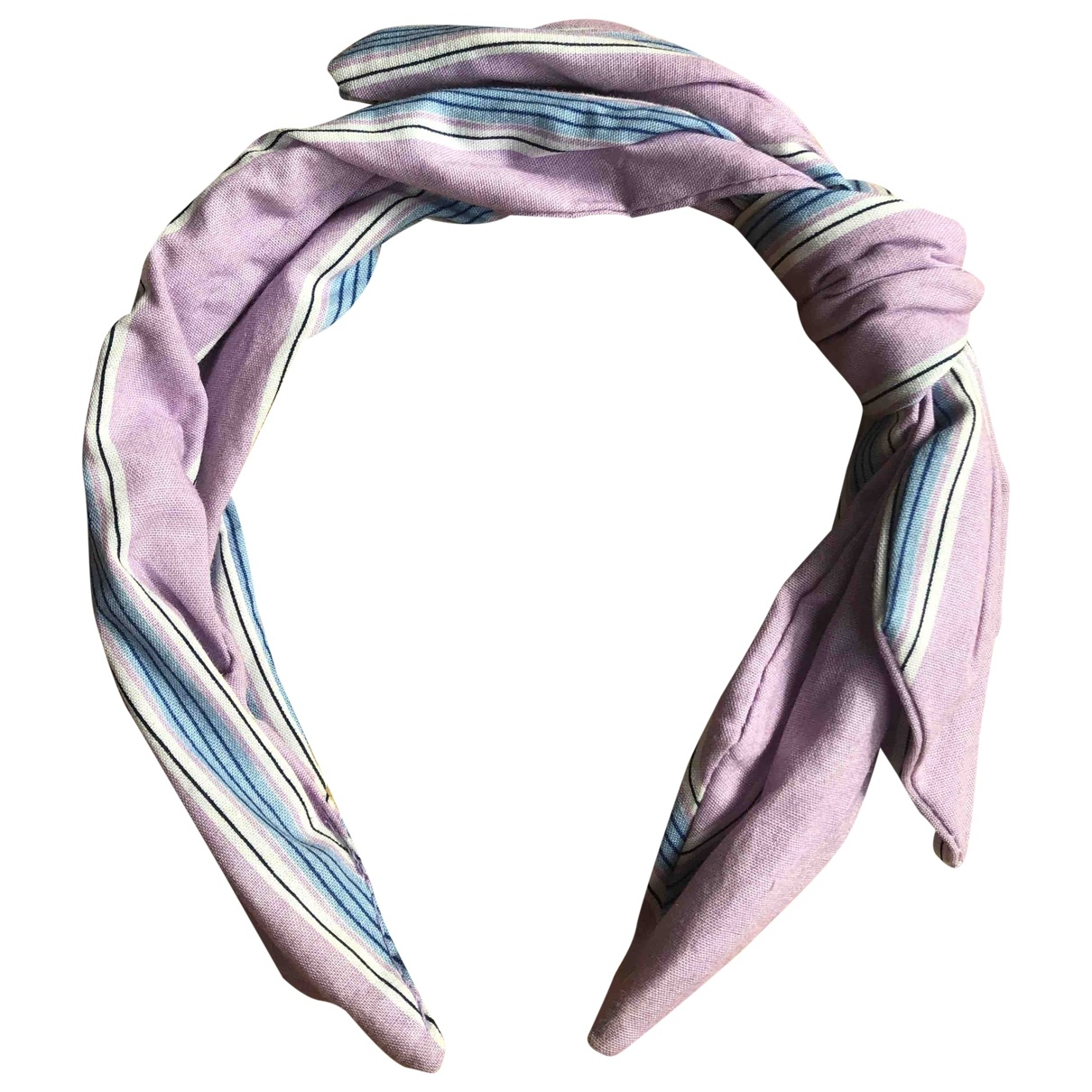 Non Signé / Unsigned \N Purple Cloth Hair accessories for Women \N