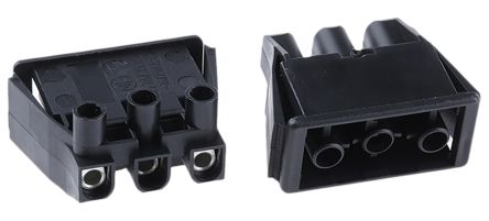 Wieland ST18 Series, Male 3 Pole Connector, with Strain Relief, Rated At 16A, 250 V, Black (5)