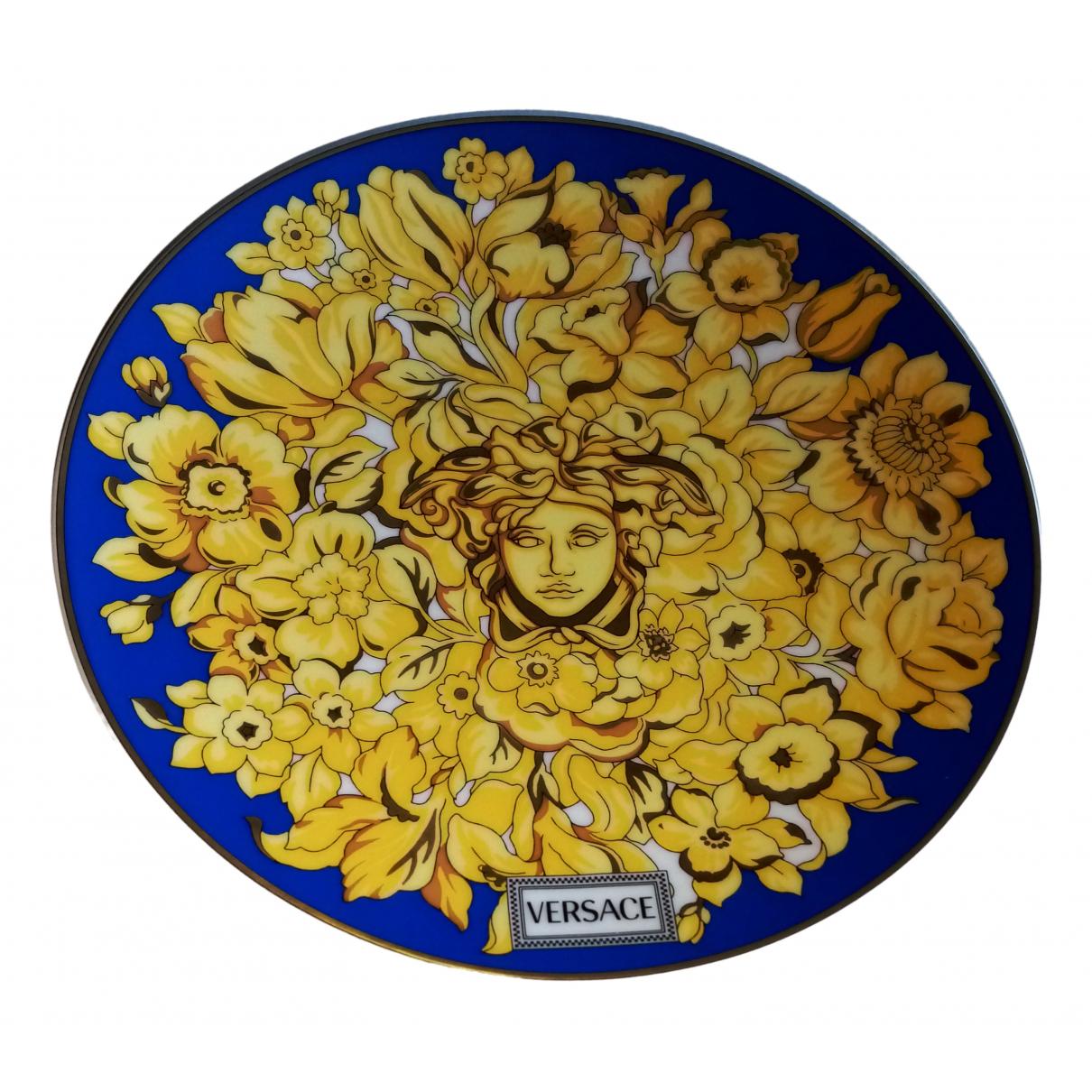 Versace \N Blue Ceramic Dinnerware for Life & Living \N