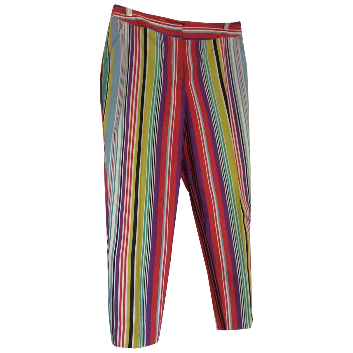 Etro \N Multicolour Cotton Trousers for Women 44 IT