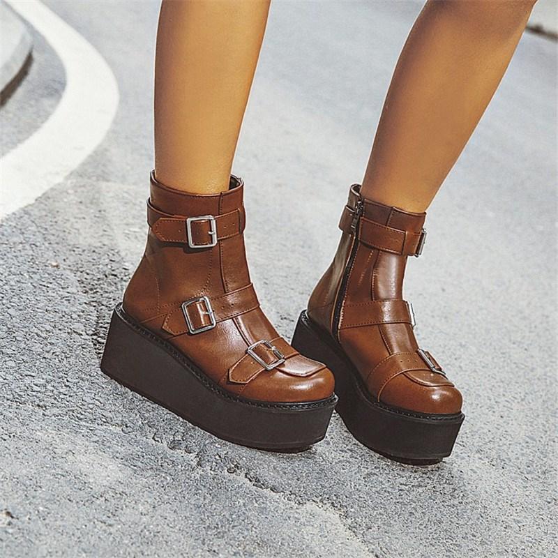 Ericdress Round Toe Side Zipper Plain Women's Casual Boots