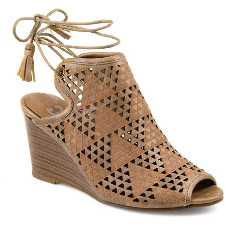Journee Collection Womens Tandra Pumps Wedge Heel, 10 Medium, Brown