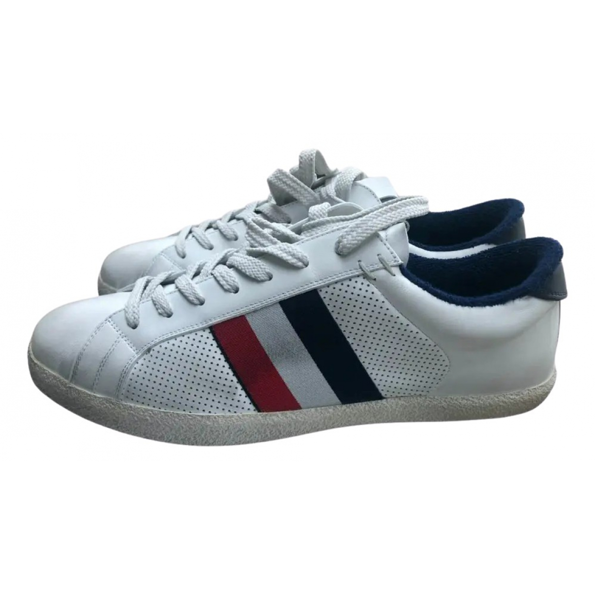 Moncler \N White Leather Trainers for Men 41 EU