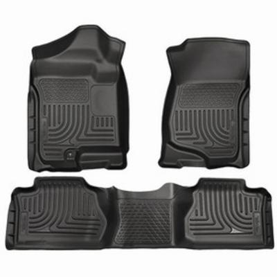 Husky Liners WeatherBeater Front and Rear Floor Liner (Black) - 98261