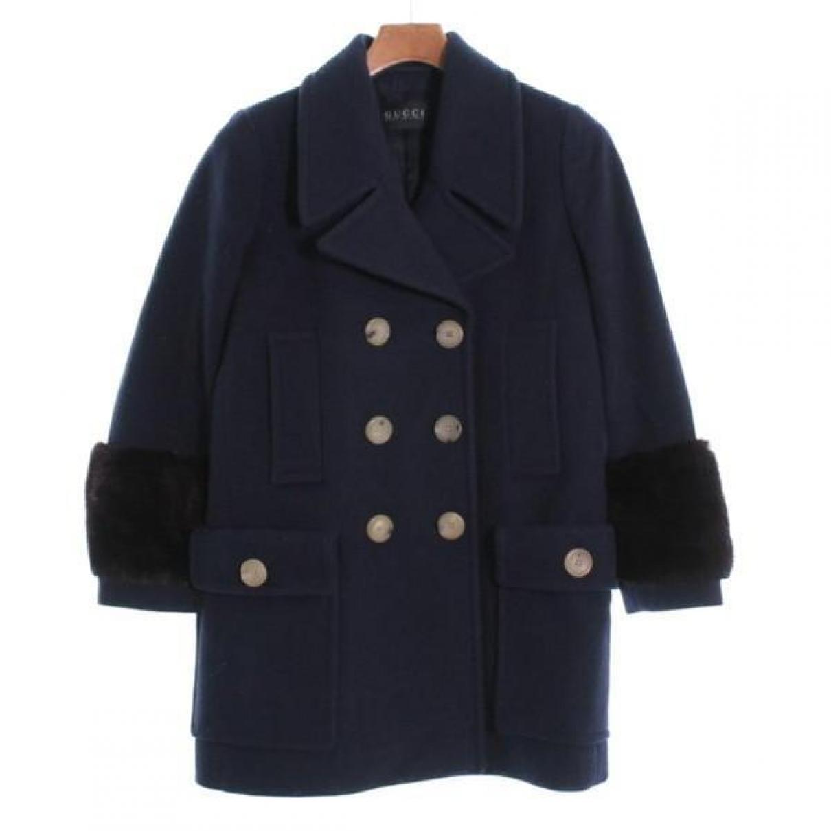 Gucci \N Navy Wool coat for Women 40 IT